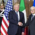 Le président des Etat-Unis Donald Trump rencontre le président Italien Sergio Mattarella au palais présidentiel (del Quirinale) à Rome, Italie, le 24 mai 2017.