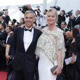 Paul Belmondo (en Dior et chaussures Carvil) et sa femme Luana (robe Alzra et Roger Vivier) - Montée des marches de la cérémonie de clôture du 70e Festival International du Film de Cannes. Le 28 mai 2017. © Borde-Jacovides-Moreau/Bestimage
