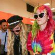 Bella Thorne et sa soeur Dani Thorne arrivent à l'aéroport de Nice pour assister au 70ème Festival International du Film de Cannes, le 23 mai 2017