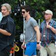 """Darren Criss, sur le tournage de la série """"American Crime Story, Versace/Cunanan"""" à Miami. Le 5 mai 2017 © CPA / Bestimage"""