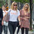 Exclusif - Candice Swanepoel, enceinte, et Doutzen Kroes à New York, le 5 juin 2016.