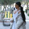 Kim Kardashian est allée déjeuner avec sa mère Kris Jenner, sa soeur Kourtney et sa fille Penelope à Calabasas, le 22 février 2017.