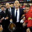 Zinedine Zidane lors de la victoire du Real Madrid en finale de la Ligue des Champions contre la Juventus de Turin le 3 juin 2017 à Cardiff.