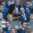 Le prince Albert II de Monaco, la première dame Brigitte Macron (Trogneux), le président de la République Emmanuel Macron - Finale du Top 14, ASM Clermont contre le RC Toulon au Stade de France à Saint-Denis, le 4 juin 2017. © Agence/Bestimage