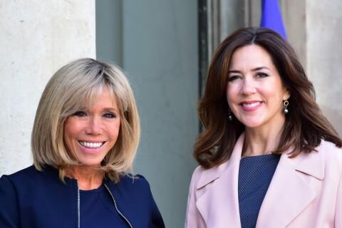 Brigitte Macron : Sobre et à l'aise pour recevoir Mary de Danemark à l'Elysée