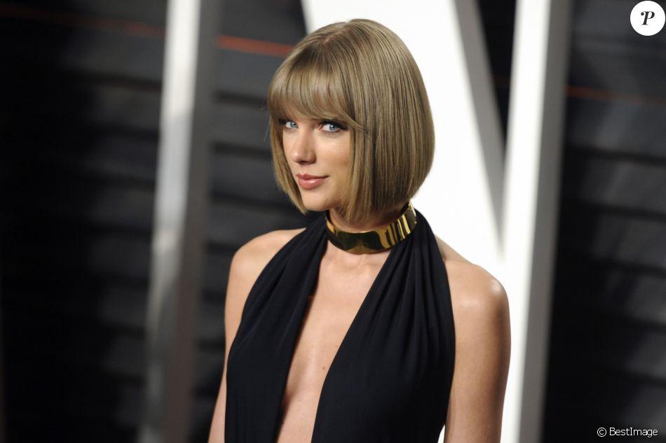 """Taylor Swift à la soirée """"Vanity Fair Oscar Party"""" après la 88ème cérémonie des Oscars à Hollywood, le 28 février 2016."""