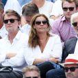 Olivia Provost et son père Franck Provost - Internationaux de France de Roland-Garros à Paris, le 9 juin 2017. © Dominique Jacovides - Cyril Moreau/ Bestimage