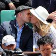 Clovis Cornillac et Lilou Fogli - Internationaux de France de Roland-Garros à Paris, le 9 juin 2017. © Dominique Jacovides - Cyril Moreau/ Bestimage