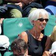 Christine Lagarde et William Leymergie - Internationaux de France de Roland-Garros à Paris, le 9 juin 2017. © Dominique Jacovides - Cyril Moreau/ Bestimage