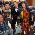 XueDong Chen, Tom Farrelly, Brandon Thomas Lee (fils de Pamela Anderson et Tommy Lee) et Cameron Dallas - Campagne Dolce & Gabbana automne-hiver 2018. Photo par Luca et Alessandro Morelli.