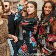 La princesse Olympia de Grèce, Chiara Scelsi, Sonia Ben Ammar et Corinne Foxx (fille de Jamie Foxx) - Campagne Dolce & Gabbana automne-hiver 2018. Photo par Luca et Alessandro Morelli.