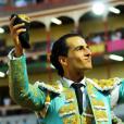Ivan Fandiño photographiée lors d'une corrida avec deux oreilles de taureau. Photo postée sur Instagram en janvier 2016.