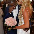 Exclusif - Le footballeur international Rio Mavuba épouse Elodie, sa compagne depuis plus de 10 ans, le 17 Juin 2017 à la Mairie de Cestas. © Patrick Bernard-Thibaud Moritz/ Bestimage