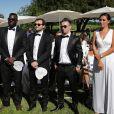 Exclusif - Mathieu Valbuena - Le footballeur international Rio Mavuba épouse Elodie, sa compagne depuis plus de 10 ans, le 17 Juin 2017, près de Bordeaux © Patrick Bernard-Thibaud Moritz/ Bestimage