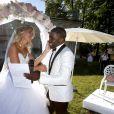 Exclusif - Le footballeur international Rio Mavuba épouse Elodie, sa compagne depuis plus de 10 ans, le 17 Juin 2017, près de Bordeaux © Patrick Bernard-Thibaud Moritz/ Bestimage