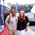 Bruce Springsteen et sa femme durant le Longines Pro Am Cup Monaco, du 22eme Jumping International de Monaco, et 12eme Longines Global Champions Tour of Monaco sur le port Hercule le 23 juin 2017. © Bruno Bebert / Pool restreint Monaco / Bestimage