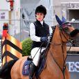 Charlotte Casiraghi durant la seconde journée du 22eme Jumping International de Monaco, et 12eme Longines Global Champions Tour of Monaco sur le port Hercule le 24 juin 2017. © Bruno Bebert / Bestimage
