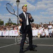 "Emmanuel Macron : Tennis ""inoubliable"" avec Marion Bartoli"