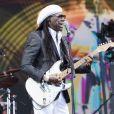 Nile Rodgers et son groupe Chic sur la scène du Glastonbury Festival le 25 juin 2017.