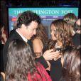 Soirée du Huffington Post pour le compte à rebours avant le 21 janvier, premier jour de la Présidence de Barack Obama : John Cusack et Tracey Edmonds