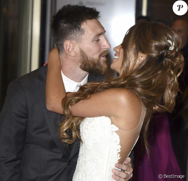 Mariage de Lionel Messi et Antonella Roccuzzo au Pullman City Center de Rosario en Argentine le 30 juin 2017.