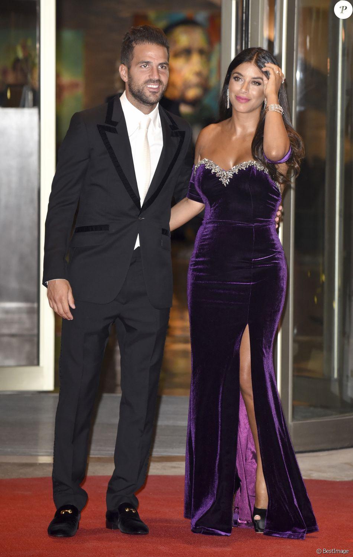 Cesc Fabregas et Daniella Semaan au mariage de Lionel Messi et Antonella  Roccuzzo au Pullman City Center de Rosario en Argentine le 30 juin 2017.