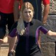 Marie Lopez (EnjoyPhoenix) fait une grosse chute dans Fort Boyard, le 1er juillet 2017 sur France 2.