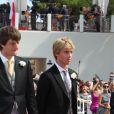 Le prince Ernst August (fils) de Hanovre et son frère le prince Christian en 2011 au mariage du prince Albert II de Monaco et de la princesse Charlene.