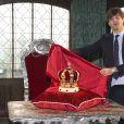 Le prince Ernst August de Hanovre, fils aîné du prince Ernst August de Hanovre, au château de Marienburg le 11 avril 2014, dévoilant la couronne des rois de Hanovre. Le 8 juillet 2017, le prince doit célébrer son mariage avec la créatrice de mode russe Ekaterina Malysheva.