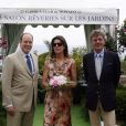 Le prince Albert de Monaco, la princesse Caroline de Hanovre et le prince Ernst August de Hanovre au 12e Salon rêverie sur les jardins du Casino de Paris à Monaco le 9 mai 2009.