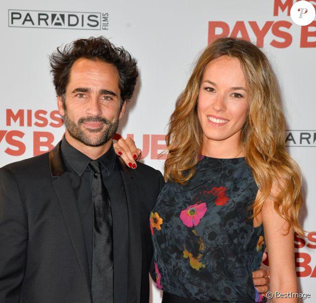 """Florent Peyre et Elodie Fontan - Avant-première du film """"Mission Pays Basque"""" au cinéma Gaumont-Opéra à Paris le 4 juillet 2017. © Coadic Guirec/Bestimage"""