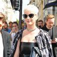 Katy Perry sort de la boutique Colette à Paris le 4 juillet 2017. © Coadic Guirec/Bestimage