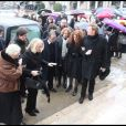Obsèques de Gérard Blanc, au Père Lachaise, le 2 février 2009.