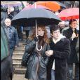 Julie Pietri et son compagnon aux obsèques de Gérard Blanc, le 2/02/09.