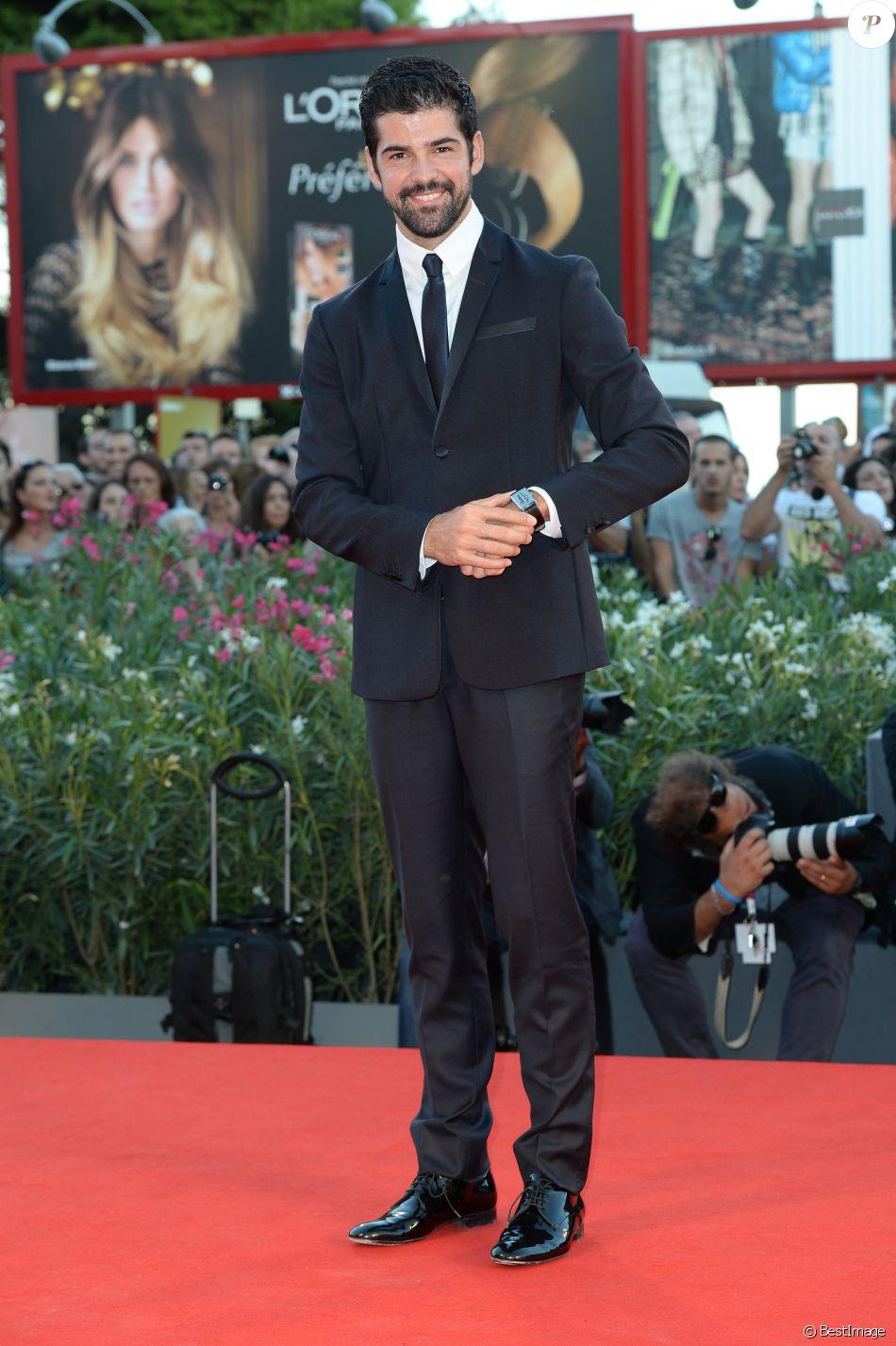 """Info - Membre du casting Danse avec les stars 5 - Miguel Angel Munoz (montre Jaeger-LeCoultre) - Tapis Rouge du film """"The Zero Theorem"""" lors du 70eme Festival International du Film de Venise, La Mostra, le 2 septembre 2013 ."""
