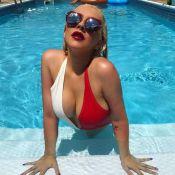 Christina Aguilera : Bombesque dans sa piscine ou sobre avec ses enfants