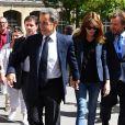 Nicolas Sarkozy et Carla Bruni Sarkozy à Paris, le 11 juin 2017.