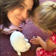 Photo de Carla Bruni et sa fille Giulia. Avril 2017.