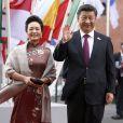 Xi Jinping et sa femme Peng Liyuan arrivent au concert de la Neuvième Symphonie de Beethoven à l'Elbphilharmonie de Hamburg, Allemagne, le 7 juillet 2017. © Future-Image/Zuma Press/Bestimage
