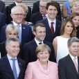 Juliana Awada, Mauricio Macri, Angela Merkel, son amri Joachim Sauer, Peng Liyuan, son mari Xi Jinping, Joko Widodo, Brigitte Macron, son mari Emmanuel Macron, Melania Trump, son mari Donald Trump et Narendra Modi - Photo de famille des participants du sommet du G20 et de leurs conjoints avant un concert à l'Elbphilharmonie à Hambourg, Allemagne, le 7 juillet 2017. © Ludovic Marin/Pool/Bestimage