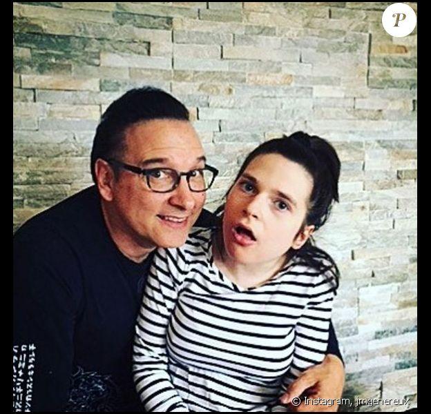 Jean-Marc Généreux avec sa fille Francesca pour fêter Pâques, le 16 avril 2017.