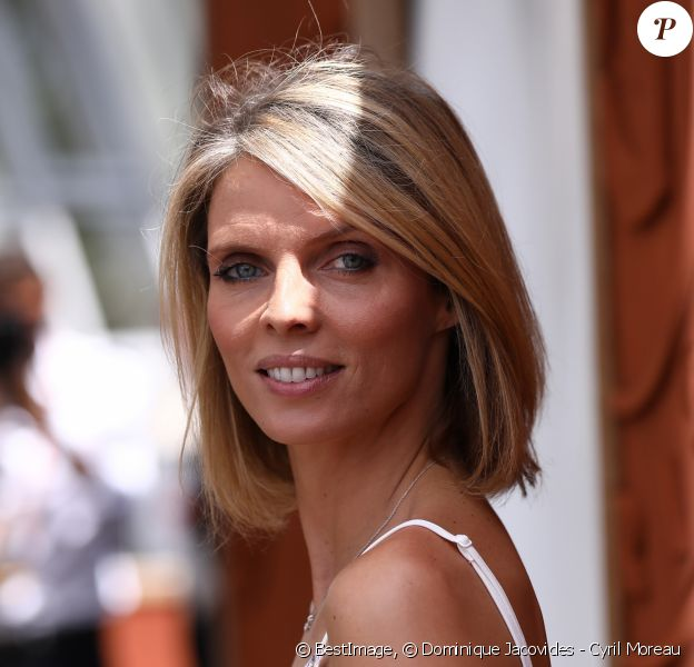 Sylvie Tellier au village lors de la finale homme des internationaux de France de Roland Garros à Paris, le 11 juin 2017. © Dominique Jacovides - Cyril Moreau/ Bestimage