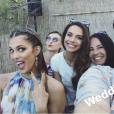Les Miss France au mariage de Sylvie Tellier, à Porquerolles le 14 juillet 2017.