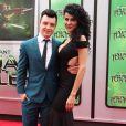 "Noel Fisher et sa petite-amie Layla Alizada - Première du film ""Teenage Mutant Ninja Turtles"" à Westwood, le 3 août 2014."
