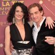 """Sylvie Ortega Munos et Ludovic Chancel - Cérémonie des """"Gold prix de la TNT 2016"""" au Théâtre Bobino à Paris le 6 juin 2016. © Perusseau/Veeren/Bestimage"""