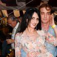 Ludovic Chancel et sa compagne Sylvie Ortega Munos à l'inauguration de la fête des Tuileries organisée par Caroline Barclay le 24 juin 2016. © Coadic Guirec / Bestimage