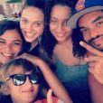 Joakim, Yelena,  Eleejah, Jenaye et  Joalukas Noah. Les cinq enfants de Yannick Noah posent ensemble sur Instagram le 11 avril 2017.
