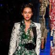 Jenaye Noah - Défilé de mode Jean-Paul Gaultier collection Haute Couture Printemps/Eté 2017 lors de la fashion week à Paris, France, le 25 janvier 2017.