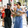 Kylie et Kendall Jenner à Beverly Hills. Le 18 juin 2017.