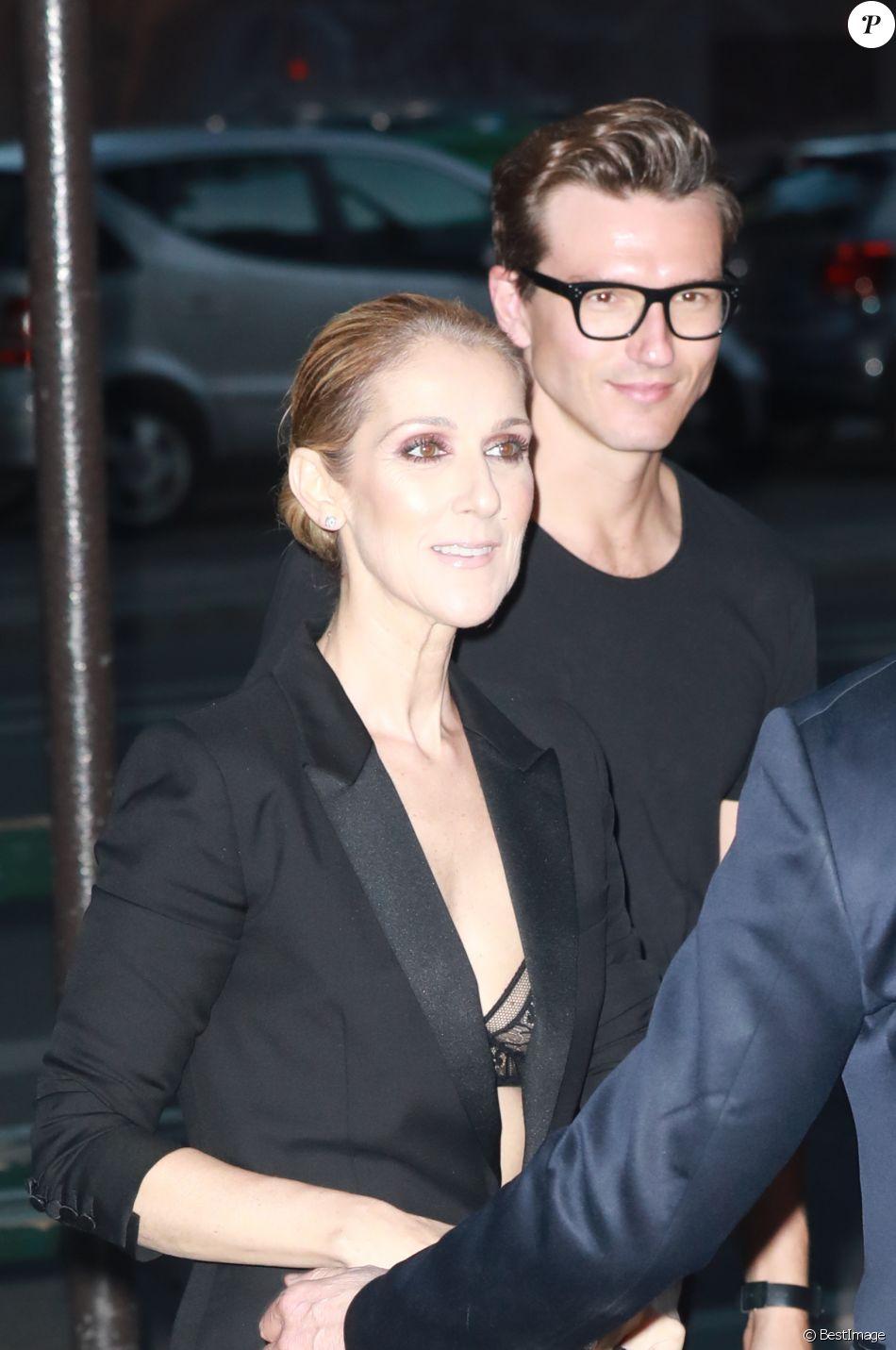 Céline Dion quitte le l hôtel Royal Monceau et va dîner en compagnie de son c80600c2190